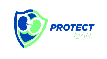 Logo for PROTECT clinical trial in IgA nephropathy