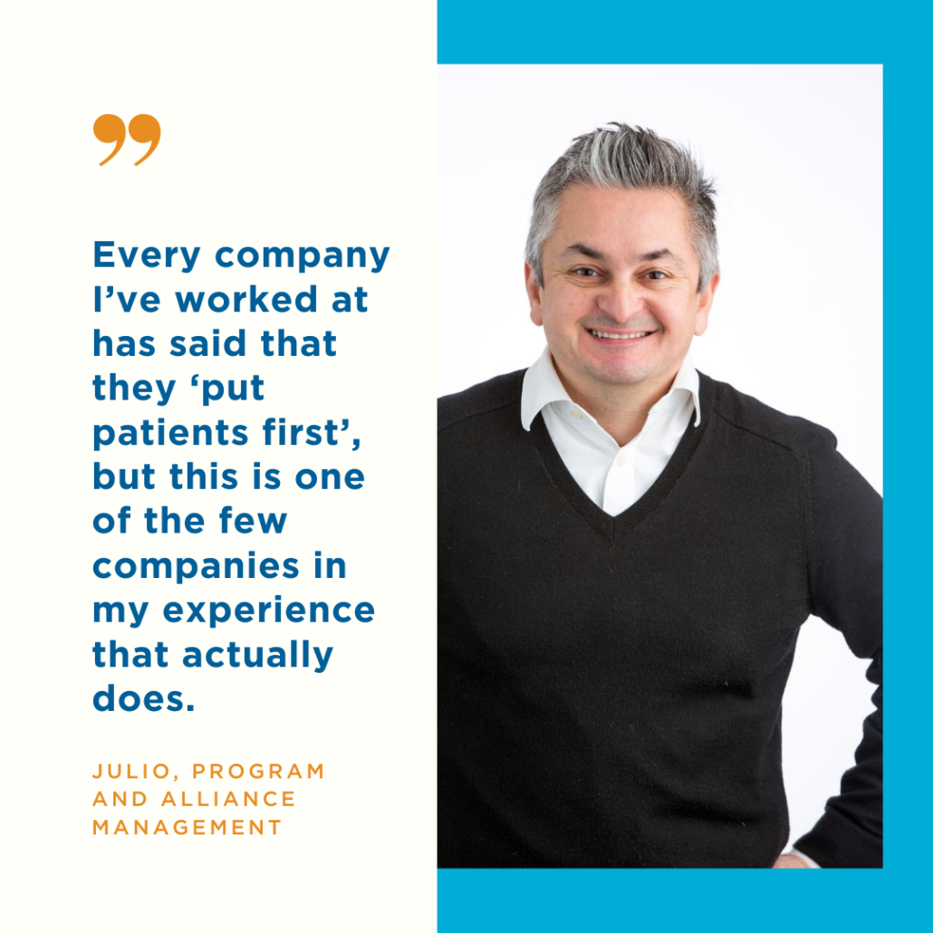 Team Member Julio talks about putting patients first