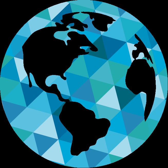 stylized globe icon