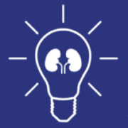 Lightbulb icon with Kidneys