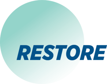 Logo for RESTORE clinical trial for CTX